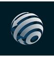 Globe Logo Element symbol of Globalization vector image