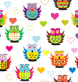 Seamless with carttoon owls vector image