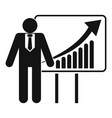 man with diagram icon simple style vector image