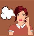 pop art style woman shows ok vector image