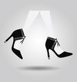 abstract close up walking spanish high heel shoes vector image