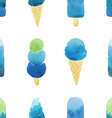 Seamless pattern with hand drawn watercolor ice vector image