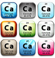 A button showing the chemical element Calcium vector image vector image