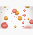 abstract colorful molecular particles vector image