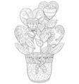 adult coloring bookpage a cute jug vector image vector image