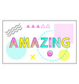 amazing banner with geometrical figures and lines vector image vector image