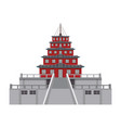 asian temple building vector image vector image