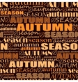 autumn background seamless pattern with words vector image vector image