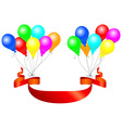 balloons with banner vector image vector image