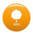 beech tree icon orange vector image