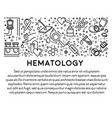 blood donation and hematology science line icons vector image