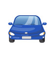 blue car front view auto insurance concept vector image vector image