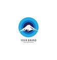 blue mount symbol logo vector image vector image