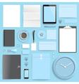 branding mockup blue business vector image vector image