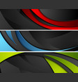 bright abstract corporate wavy banners vector image vector image