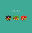 burgers friends vector image