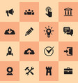 business icons set information concept sign vector image