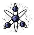 cartoon image of atom icon atom symbol vector image