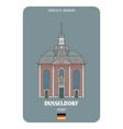 church st maximilian in dusseldorf germany vector image