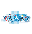 Cross country Skiers vector image vector image