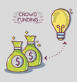 crowdfunding finance company and economy support vector image vector image
