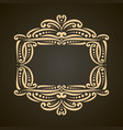 decorative golden frame vector image