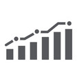 diagram glyph icon report and graph growth chart vector image vector image