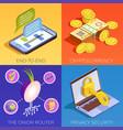 digital currency design concept vector image