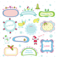 Doodle christmas frames vector image
