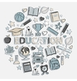 Education set in the form of a circle vector image vector image