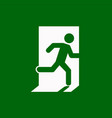 emergency exit right escape route signs vector image vector image