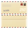 Envelope with stamps vector image