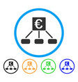 euro distribution links rounded icon vector image vector image