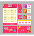 Flat style cocktail menu design Document template vector image vector image