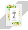 flower decoration beautiful wedding card design vector image vector image