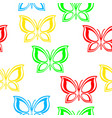 flying multicolored butterflies vector image vector image