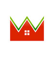 fresh housing real estate crown shape graphic icon vector image