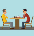 gambling chess confrontation of minds vector image