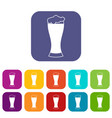 glass of beer icons set vector image vector image