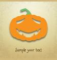 halloween card with sad pumpkin vector image vector image
