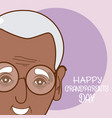 happy grandparents day card vector image