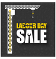 happy labor day typography hanging with vector image