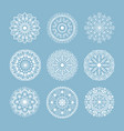 henna tattoo mehndi flower template doodle vector image vector image