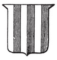 heraldry paly have vertical stripes vintage vector image vector image
