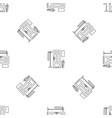 home door interior pattern seamless vector image