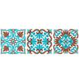 italian ceramic tile pattern mediterranean vector image vector image