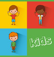 kids happy vector image vector image