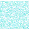 line contact white seamless pattern vector image vector image