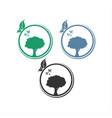 logo circle tree design vector image vector image