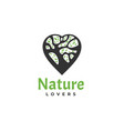 logo nature lover duck flying silhouette style vector image